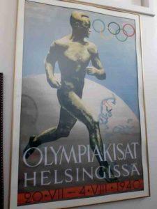 Juliste joka teetettiin vuoden 1940 olympialaisia varten, joita ei pidetty