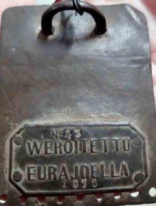 Koiran veromerkki vuodelta 1879